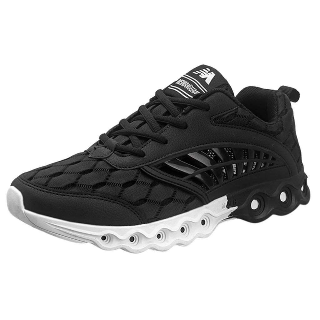 Black CN43(US 9) FIRERO Men's Flying Weaving le Running shoes Tourist shoes Leisure Sports shoes