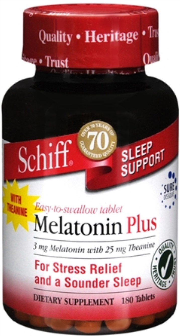 Amazon.com: Schiff Melatonin 3 mg Tablets 180 Tablets (Pack of 9): Health & Personal Care