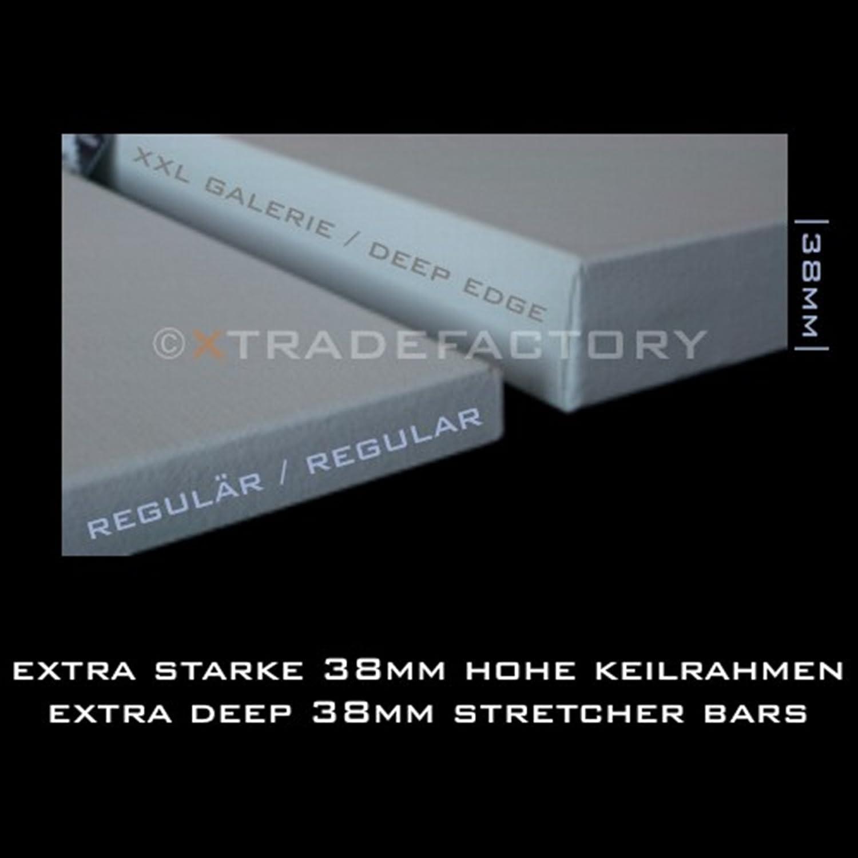 pur coton 4 TOILES B.K DEEP EDGE sur chassis 60x60 cm