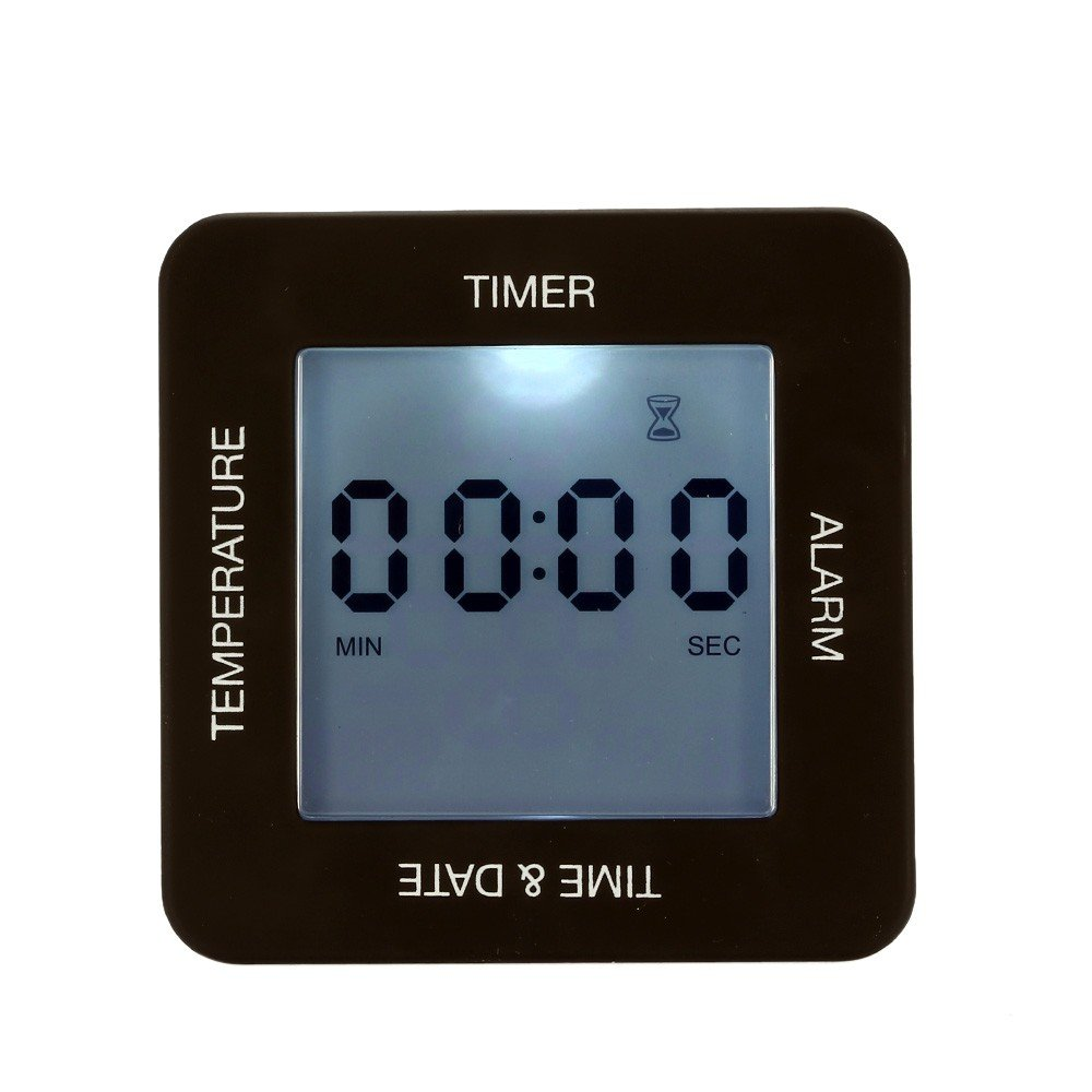 Multi-functional Digital Sided Rotating Alarm Clock Timer Calendar Display Generic AEQW-WER-AW144515