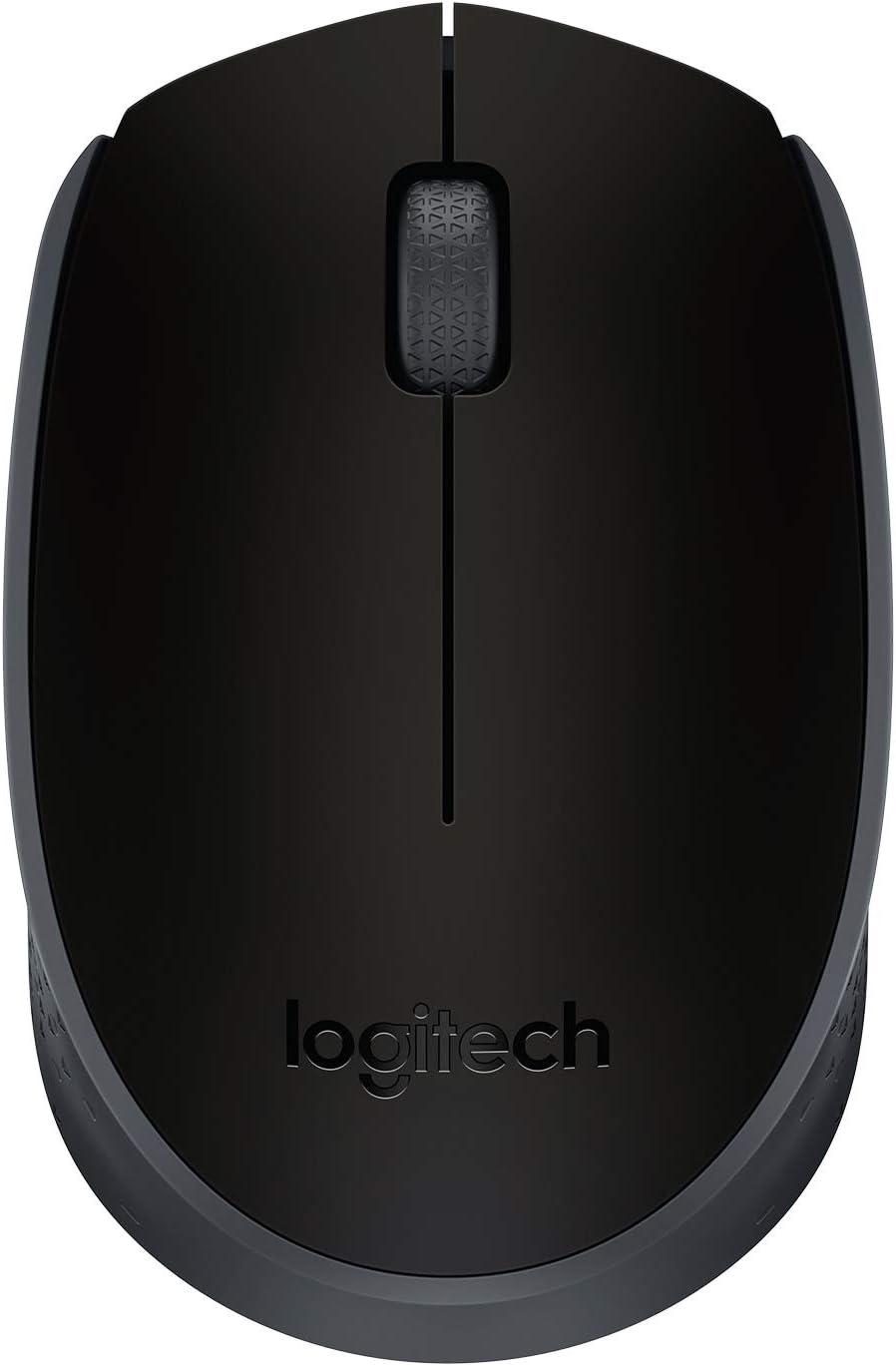Logitech M171 Ratón Inalámbrico, 2,4 GHz con Nano Receptor USB, Seguimiento Óptico, Batería 12 Meses, Ambidiestro, PC/Mac/Portátil, Negro