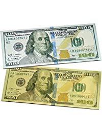 PickUp (Set of 2) New One Hundred Dollar $100 Bill Gold & Silver Millionaire Lucky Money Magnet / USA Patriotic Souvenir... wholesale