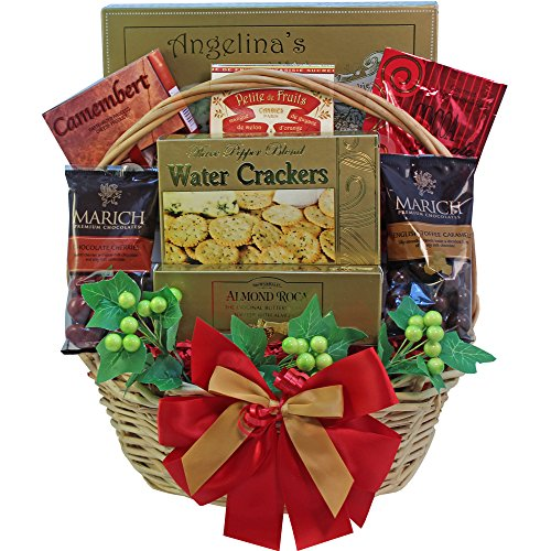 Sweet Wishes For You! Gourmet Food Gift Basket (Candy Option)