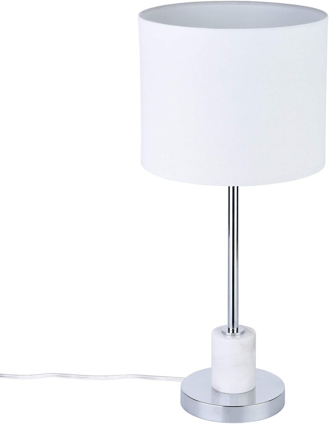 SEI Furniture AMZ7518TL Bellina Table Lamp, Silver