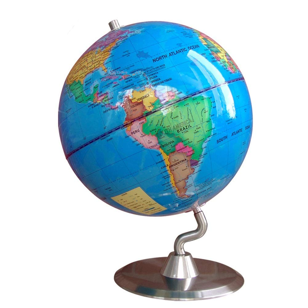 Geografia rotante della terra completa educativa Globo da tavolo rotante con decorazione da insegnamento 25 cm Mosaico decorativo da tavolo mondo decorativo da insegnamento per bambini e adulti