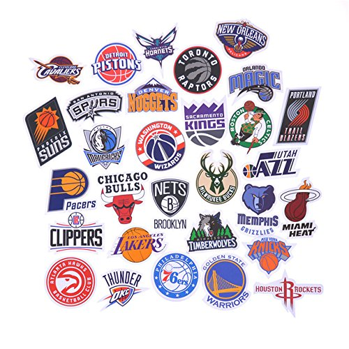 NBA Decal Stickers Basketball Team Logo - Complete Set of All 30 Teams - 3
