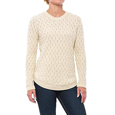 963b11ce2 Jeanne Pierre Women s Fisherman Cable-Knit Crewneck Sweater