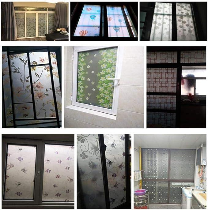Película autoadhesiva para ventana de baño, 60 x 200 cm, para puertas correderas de cristal de celofán o inodoro, papel translúcido, 60 x 200 cm: Amazon.es: Hogar