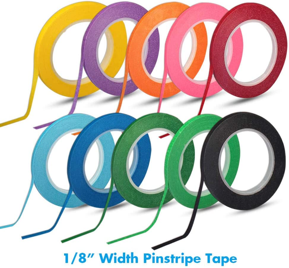 10/colori Selizo 10/rotoli di nastro 1//20,3/cm per lavagna bianca a righe Dry Erase Board tape Line Thin Striping Graphic chart Art tape Grid fodera nastro per lavagna bianca