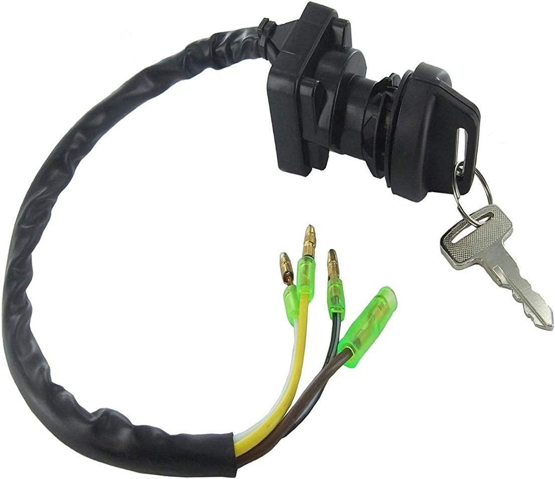 Ignition Key Switch Fits Kawasaki Bayou 220 KLF220 1988 1989 1990 1991 1992 1993 1994 1995 ATV