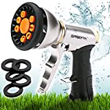 SprayTec 9 Pattern Hose Nozzle Sprayer with Pistol Grip Trigger