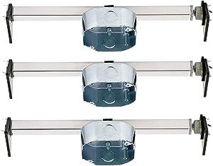 Ciata Lighting Saf-T-Brace for Ceiling Fans, 3 Teeth, Twist and Lock (3 Pack)