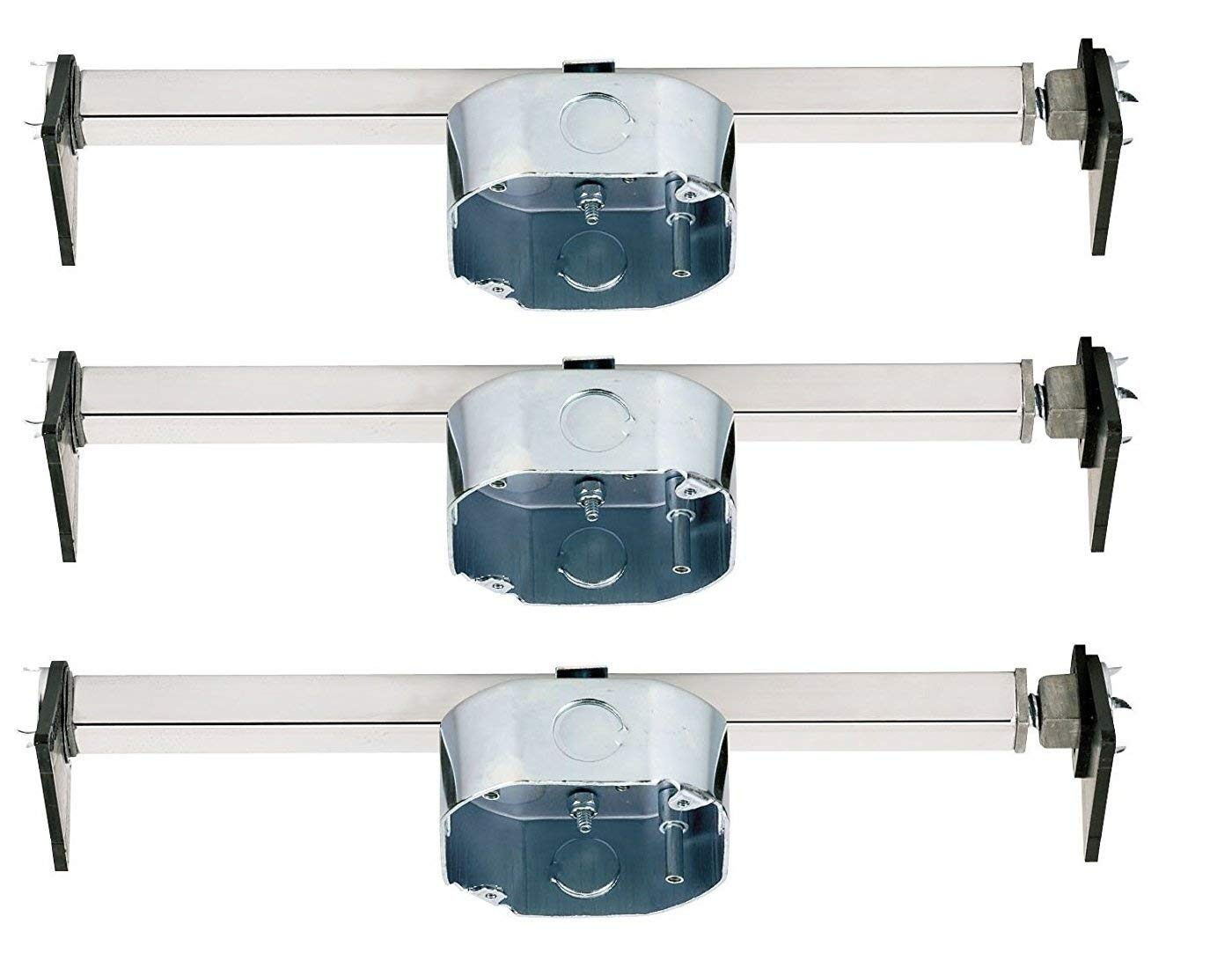 Ciata Lighting Saf-T-Brace for Ceiling Fans, 3 Teeth, Twist and Lock (3 Pack) by Ciata