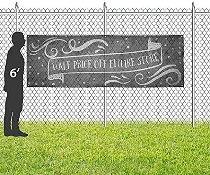 CGSignLab Chalk Banner Wind-Resistant Outdoor Mesh Vinyl Banner 12x4 Half Off Entire Store