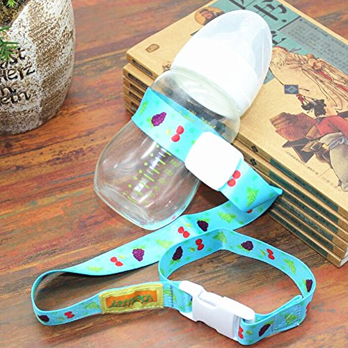 Jsentai Baby Sippy Cup Holder Adjustable Strap, Soothie Pacifier Holders Toys Leash For Stroller Random Color Pack of 4 by Jsentai (Image #2)