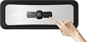 Toprime VS6682H Vacuum Sealer, AUTO-Lock Food Saver System for Dry & Moist Preservation, Recipe Vac Seal Machine for Sous Vide, 120W Fully, Stainless
