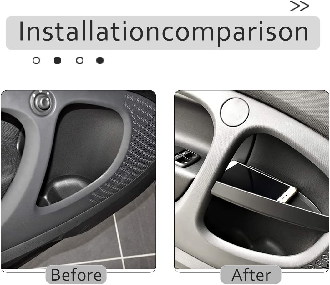 TongSheng for Mercedes Benz Smart 453 fortwo 2015-2019 Car Door Handle Storage Box Container Glove Auto Organizer Interior Accessories