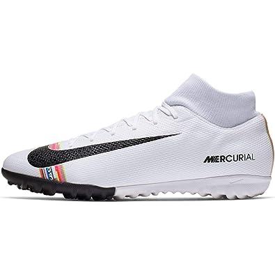 60e21ae0 Nike Men's CR7 SuperflyX 6 Academy Turf Soccer Shoe White/Black/Pure  Platinum Size