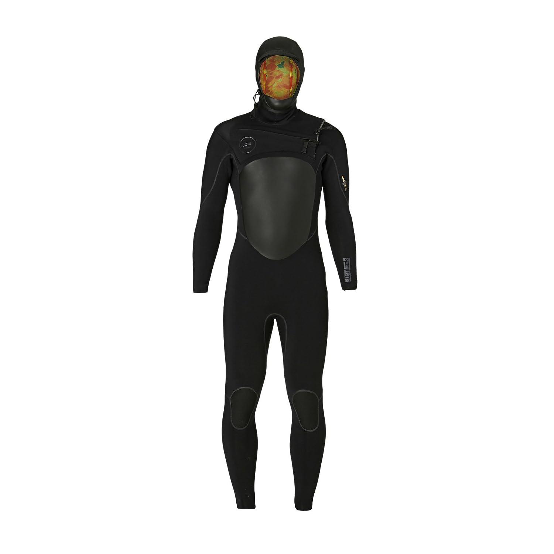 5 / 4 mmメンズXcel Drylockフルウェットスーツ – ブラック、MS   B01JMI44IY