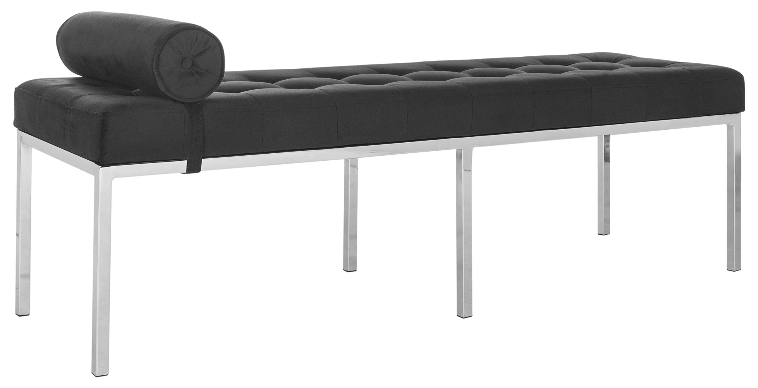Safavieh FOX6240B Home Collection Xavier Tufted Bench, Black by Safavieh (Image #5)