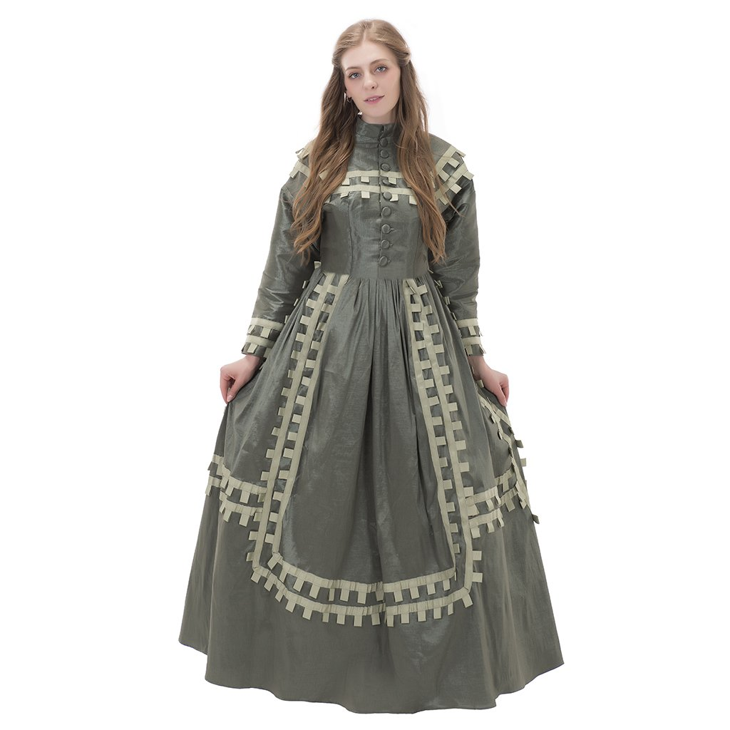 Victorian Dresses | Victorian Ballgowns | Victorian Clothing Victorian Day Dress Costume NQ0001 $179.30 AT vintagedancer.com