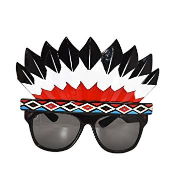 eacca92c1e BESTOYARD Indian Headdress Sunglasses Party Glasses Supplies Photo Props  Holiday Dance Ball Dress Up Glasses  Amazon.co.uk  Toys   Games