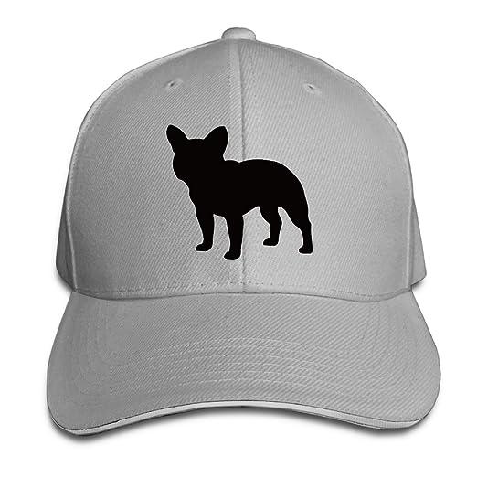 042a0bb86a0 Amazon.com  French Bulldog Cute Puppy Sandwich Cap Snapback Cap Ash ...