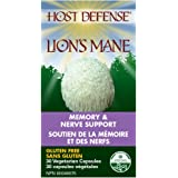 Host Defense Mushrooms | Lions Mane | Support for Mental Clarity and Memory | Certified Organic | 30 Caps