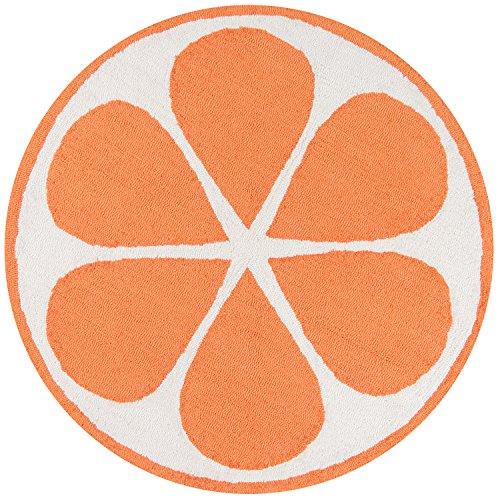 Novogratz by Momeni CUCINCNA-1ORG300R Cucina Orange Kitchen Mat, 3' X 3' Round, (Rug Slice Watermelon)