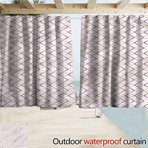 Beihai1Sun Rod Pocket Curtains Trellis Victorian Ancient Oval Darkening Thermal Insulated Blackout W55x72L Inches ()
