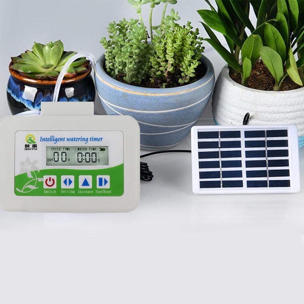 Zimmerpflanzen Selbstbew/ässerungssystem Solar Bew/ässerungs-Timer Set Mit Digital Programmierbarer Wasseruhr F/ür Die Bew/ässerung Von Innen Und Au/ßenanlagen Automatische Tropfbew/ässerung Kit