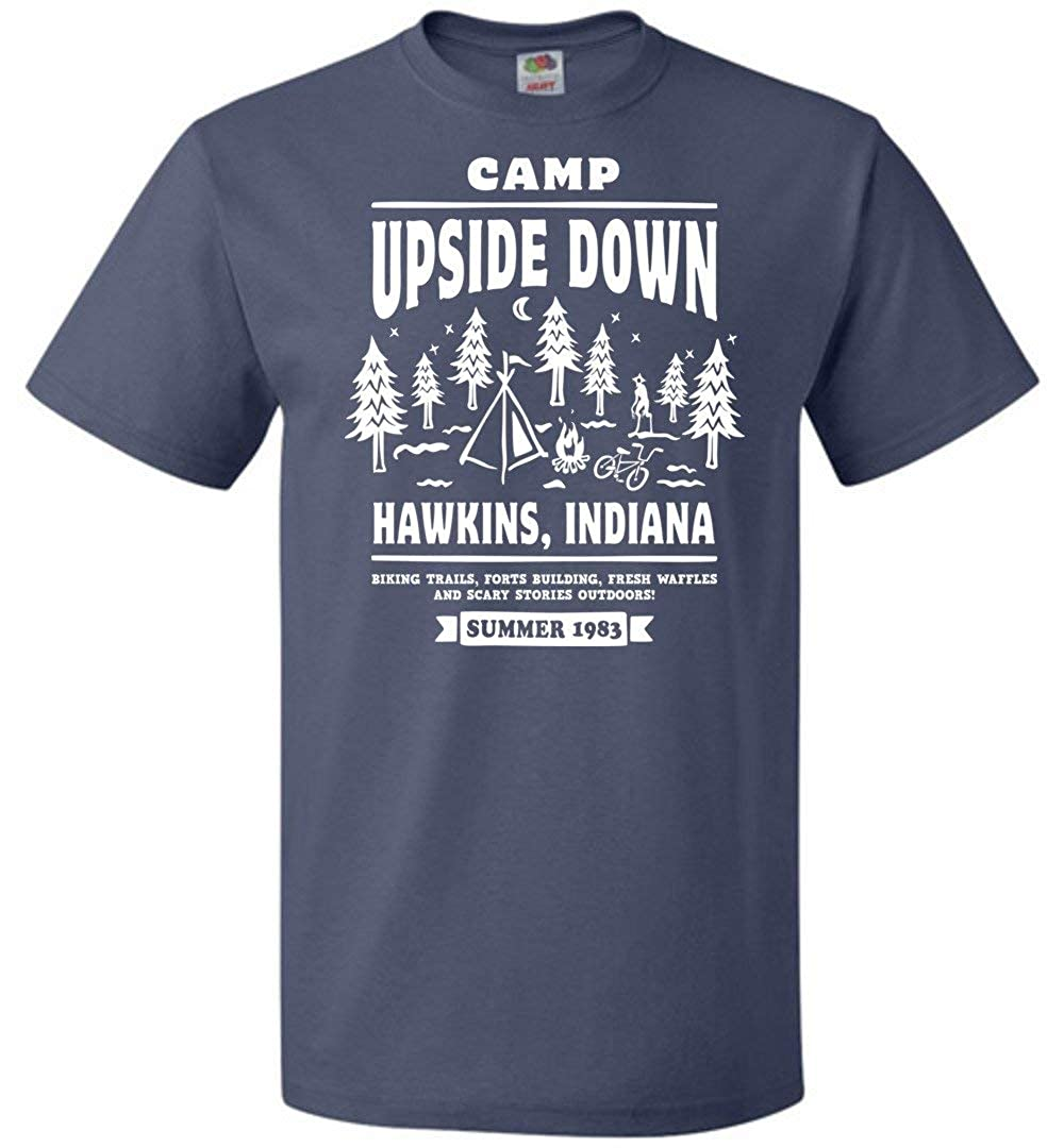 Camp Upside Down Unisex T-Shirt Adult Pop Culture Graphic Tee Nerdy Geeky Apparel