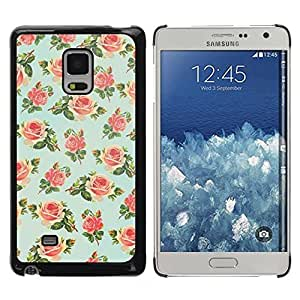 DIY PHONE CASE / Slim Protector Hard Shell Cover Case for Samsung Galaxy Mega 5.8 9150 9152 / Floral Rose Wallpaper Retro by ruishername