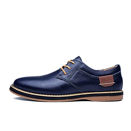 648654739ba5d Amazon.com: SFE Men's Lace-Up Shoes Driving Leather Sneakers Casual ...