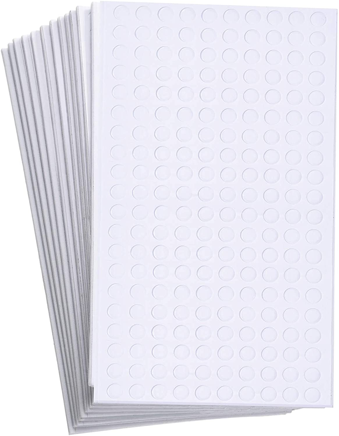 2400 Pieces Foam Dots Dual-Adhesive 3D Foam Tapes Foam Pop Dots Adhesive Mount for Craft DIY Art or Office Supplies, 12 Sheets, Round (0.24 Inch)