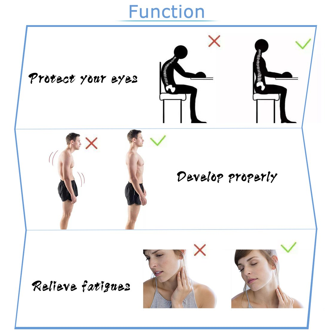 Posture Corrector Upper Back Braces for Women Men, Adjustable Thoracic Brace for Hunching Slouching, Neck Shoulder Supports for Upper Back Alignment and Pain Relief, Bonus Gift 2x Armpit Pads by STSTECH (Image #5)