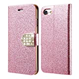 Excelsior Premium Leather Wallet Flip Cover Case For Apple iPhone 8 Plus (Pink)