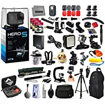 GoPro HERO5 Hero 5 4K Action Camera Black Edition + 4Yr Accident Protection + 192GB + Large Everything You Need Kit