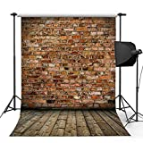 Kooer 5x7ft Classical Dark Red Brick Wall Photography Backdrops The Old Wall Photography Backgrounds Photo Studio Prop Baby Children Family Photoshoot Backdrop Customized Various Size