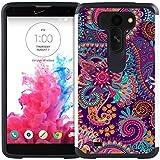 LG G Vista Case - Armatus Gear (TM) Slim Hybrid Armor Case Dual Protective Phone Cover for LG G Vista (Verizon / AT&T) VS880 - Colorful Paisley
