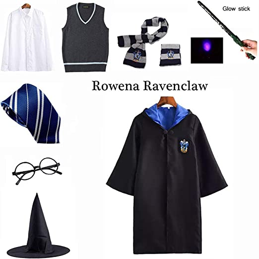 LISI Halloween Unisex Cosplay Costume Set, Ravenclaw Adultos Capa ...