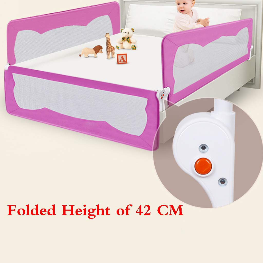 Bed Guard, Folding Infant Baby Bedrail Protection Guards Toddler Safety Bed Rail Baby Kids Protective Guard Gate Child Prevention Bedside Baffle Bed Protective by SONGTING Guardrail (Image #2)
