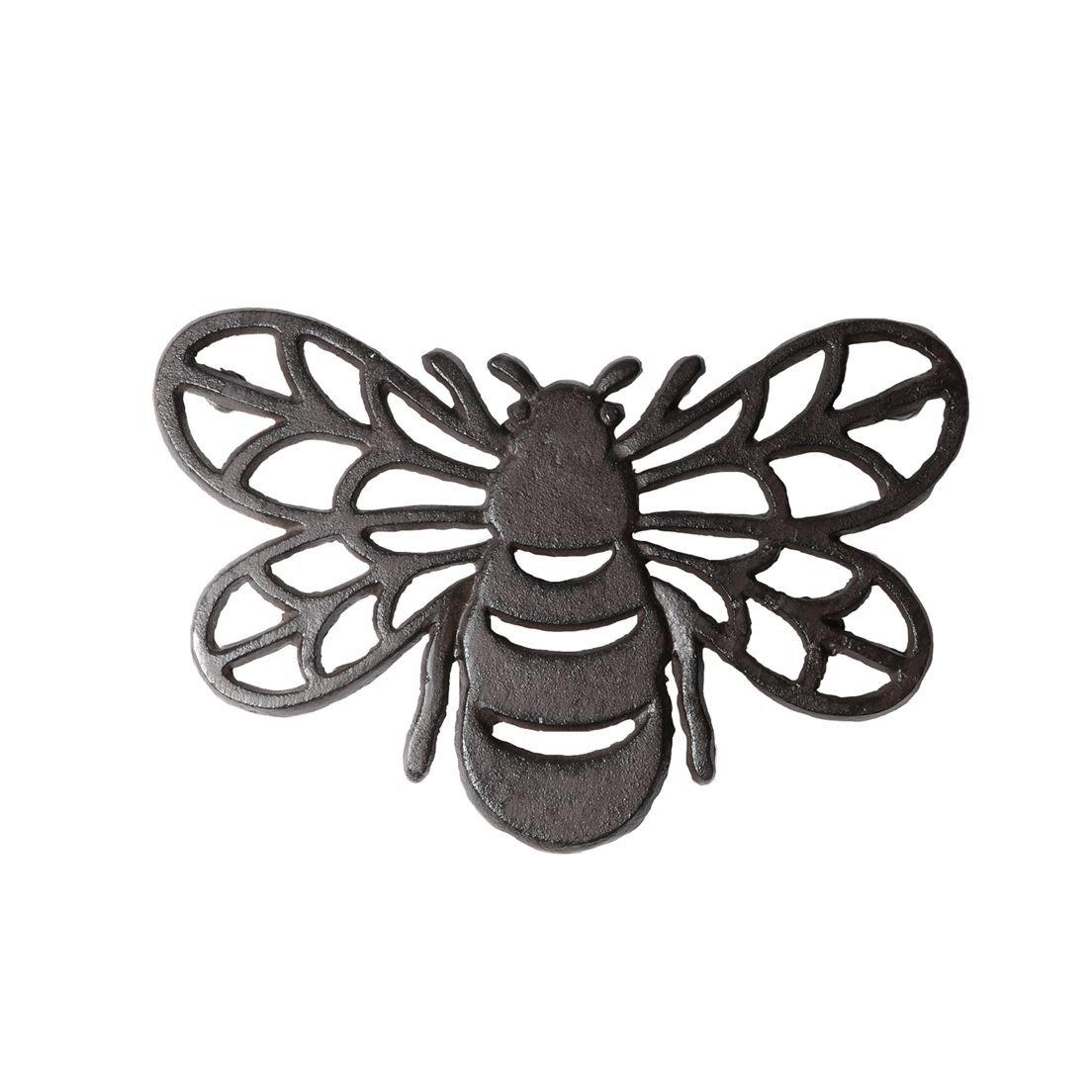 DEI 4.5 Inches x 8 Inches Cast Iron Bee Trivet Kitchen Accessories 10474