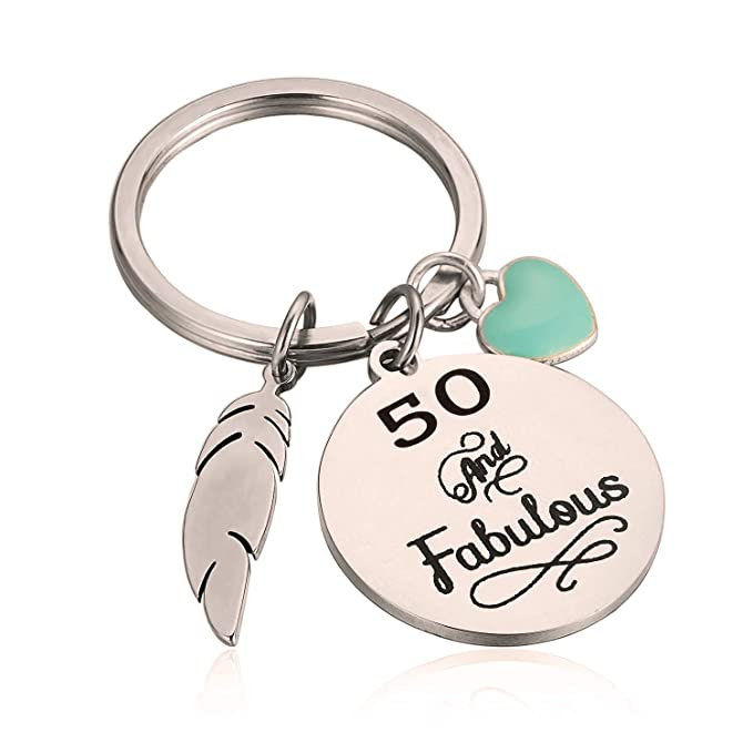 Amazon 50th Birthday Gift For Her 30 And Fabulous Keychain Gift