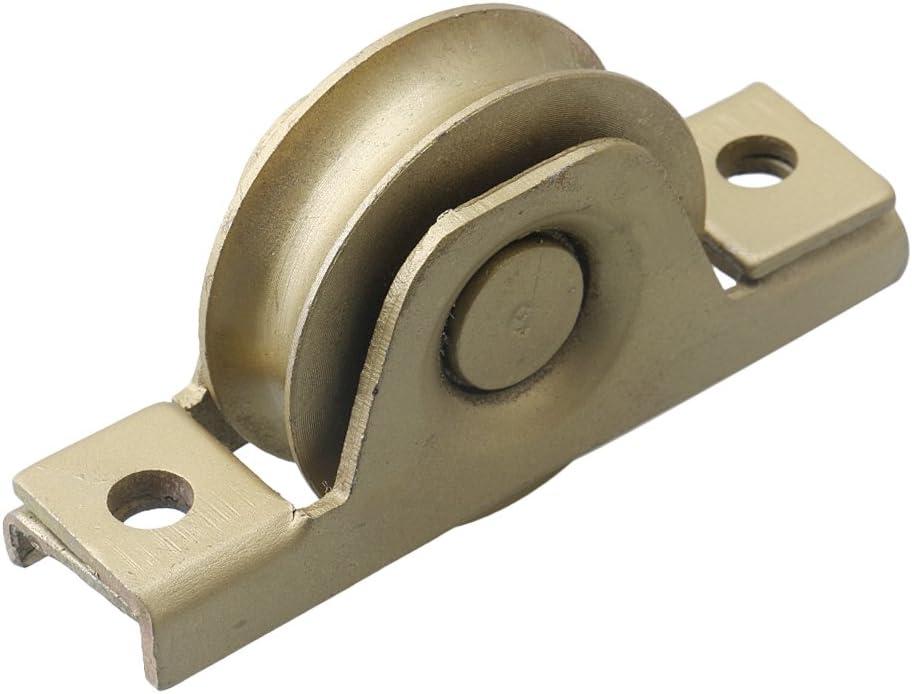 Mxfan - Rodillo de puerta corredera de acero para armario, 58 x 17 ...