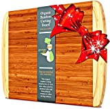 Greener Chef Bamboo Cutting Board - ORGANIC & KING SIZE - LIFETIME REPLACEMENT WARRANTY