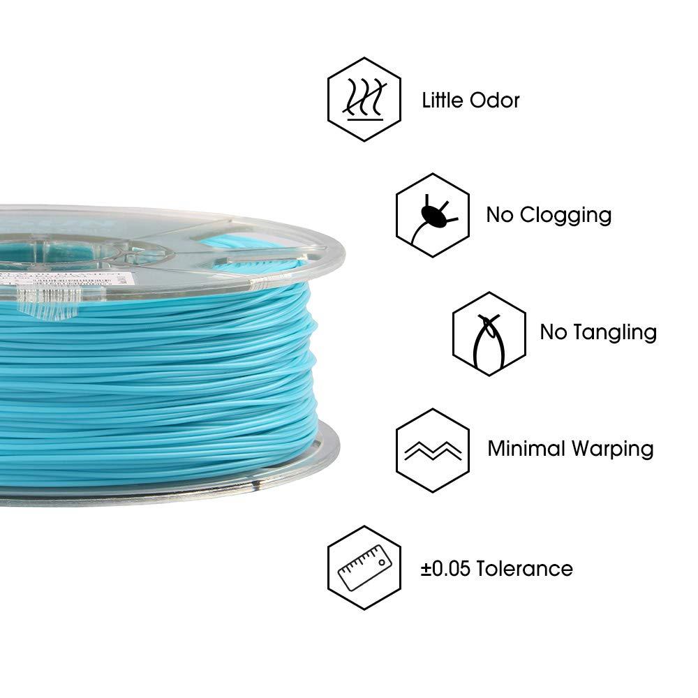 para la Impresora 3D Precisi/ón Dimensional +//- 0.03mm eSUN PLA Plus Filamento de Impresora 3D Filamento PLA+ 2.85mm 2.2 LBS 1kg Amarillo