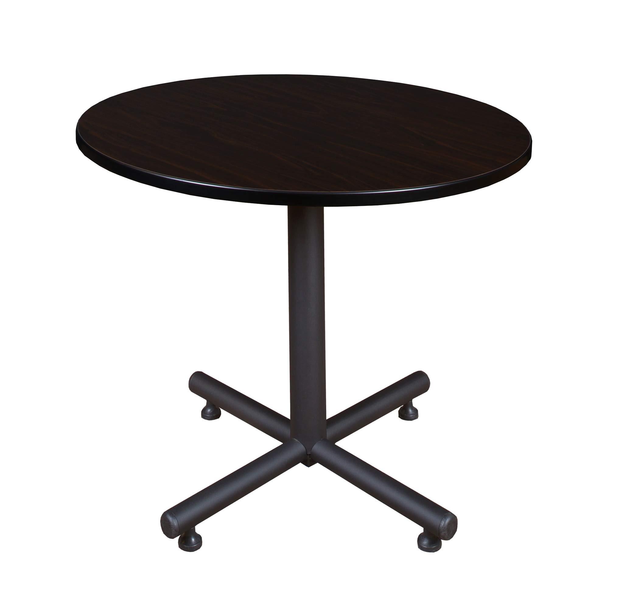 Regency Kobe 36-Inch Round Breakroom Table, Mocha Walnut