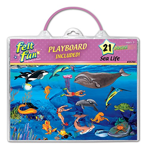 Ocean Sea Life Felt Fun Flannelboard set- includes: figures, playboard & case