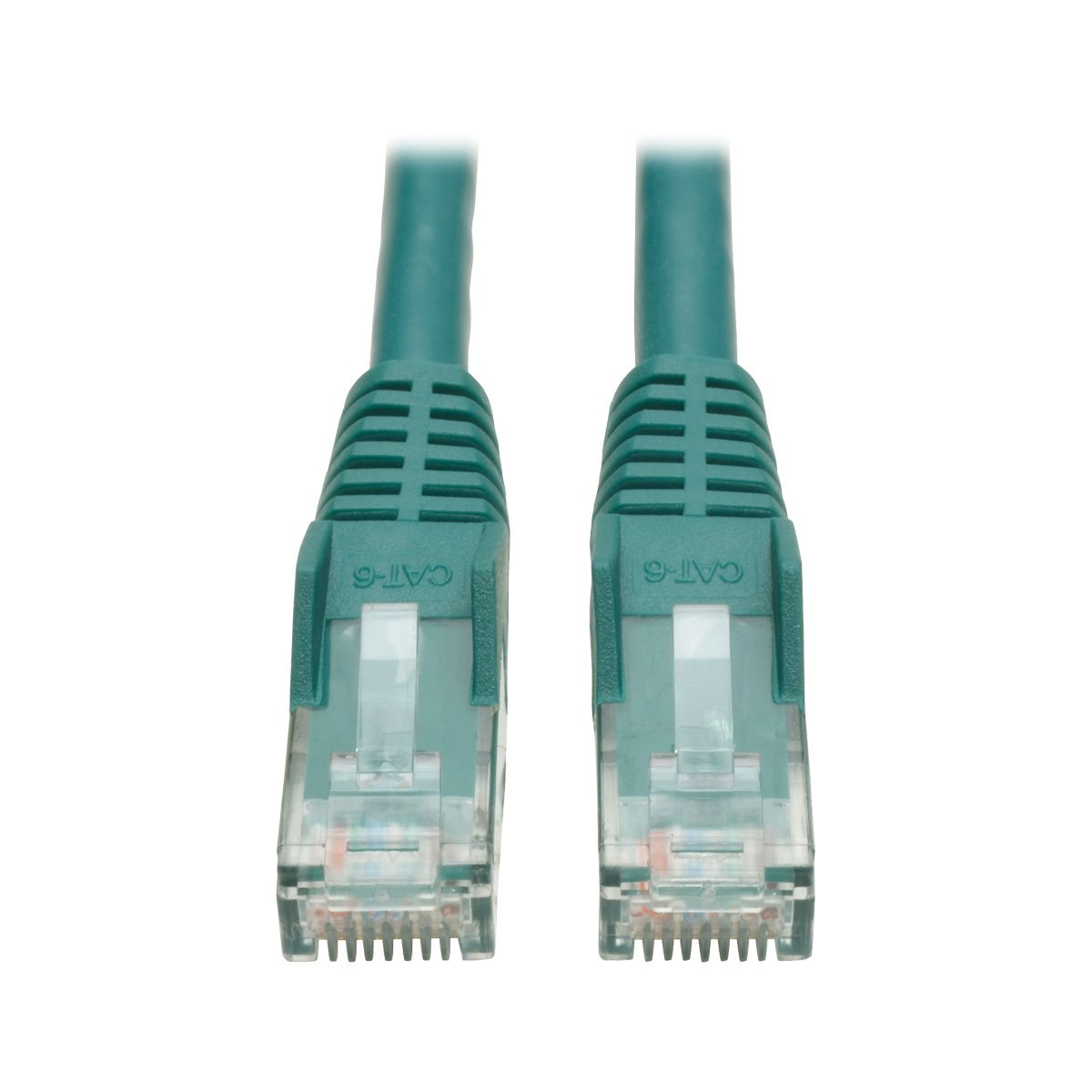 Tripp Lite Cat6 Gigabit Ethernet Snagless Molded Patch Cable 24 AWG 550MHz Premium UTP, Green, RJ45 M/M 35' (N201-035-GN)